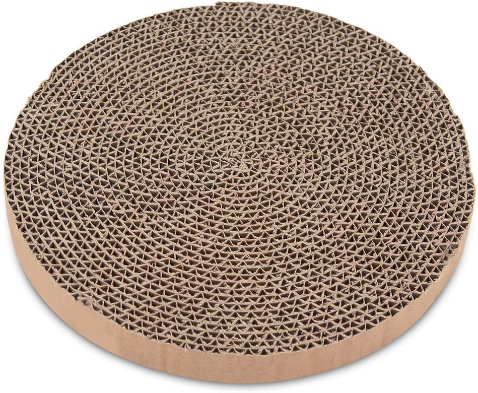 Catify Scratch and Spin Replacement Pads (5 Pack) – Round Cardboard Scratcher Refills for Cats – by Best Pet Supplies : Pet Supplies