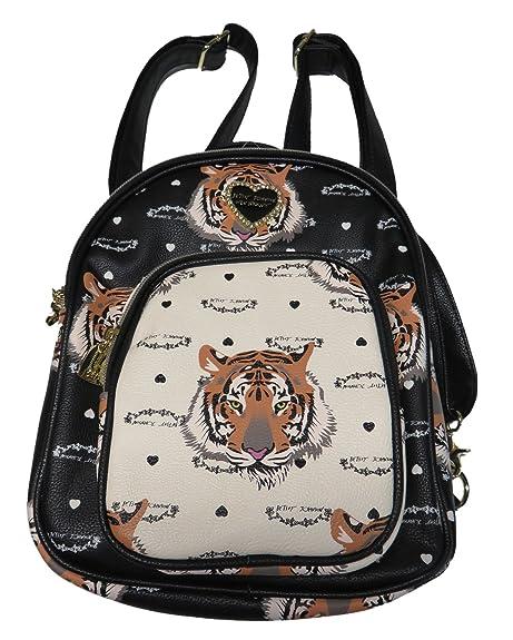 3e77307e7fe Betsey Johnson Womens Mini Convertible Crossbody Backpack Tiger ...