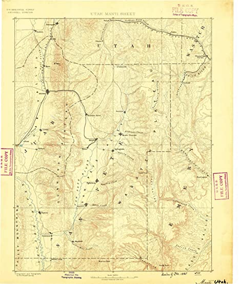 Amazon Com Yellowmaps Manti Ut Topo Map 1 250000 Scale 1 X 1