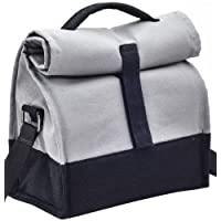 Fatmug Canvas Thermally Insulated Lunch Bags with Sling - Grey