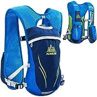 AONIJIE - Mochila de hidratación para senderismo, ciclismo, running, carreras, chaleco de hidratación de 5,5 l