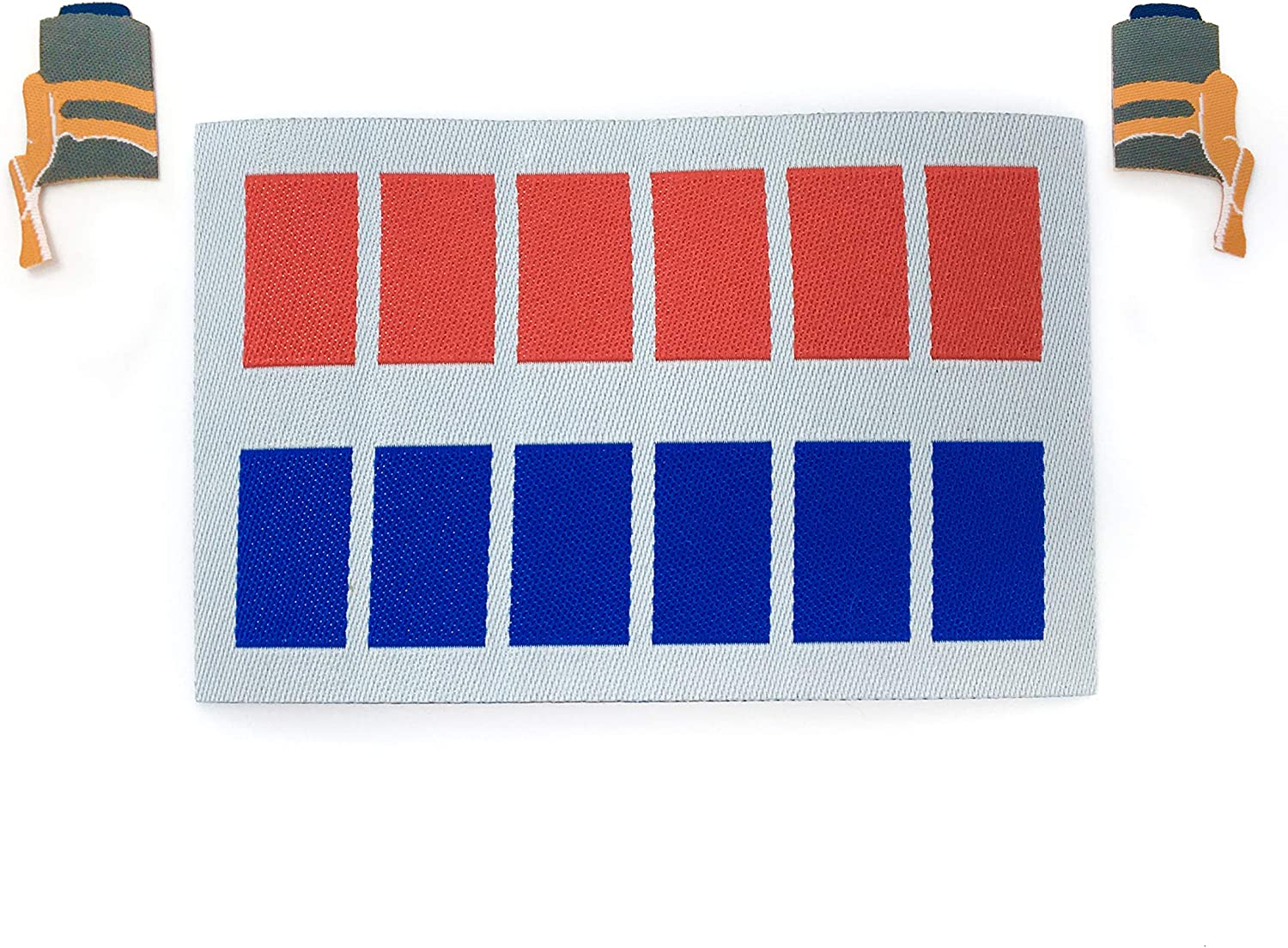Admiral - Imperial Officer Rank Insignia Iron-on Patch, Star Wars Woven Fabric Emblem Plaque Bar, Cosplay 501st Legion Costume - Machine Washable Safe