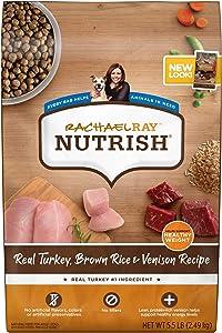 Rachael Ray Nutrish Super Premium Dry Dog Food, Turkey, Brown Rice & Venison Recipe (Packaging May Vary)