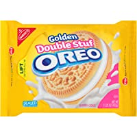 Deals on Oreo Golden Double Stuf Sandwich Cookies, 15.25 Ounce