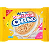 Oreo 15.25 Ounce Golden Double Stuf Sandwich Cookies