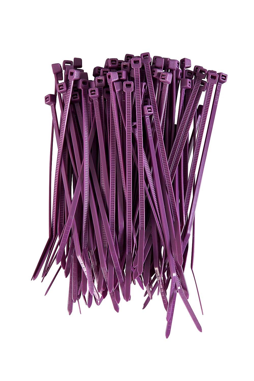 Gocableties Lot de 1000 attaches de c/âble en nylon Violet 100 mm x 2,5 mm