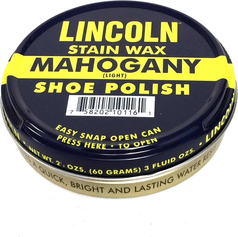 Lincoln Shoe Wax Polish 3 Fl Oz (Brown), Brown, Size 3 Fl Oz: Health & Personal Care
