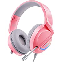 $36 » VANKYO Pink Gaming Headset for PS4, PS5, PC, Nintendo Switch, Xbox One, Comfortable…