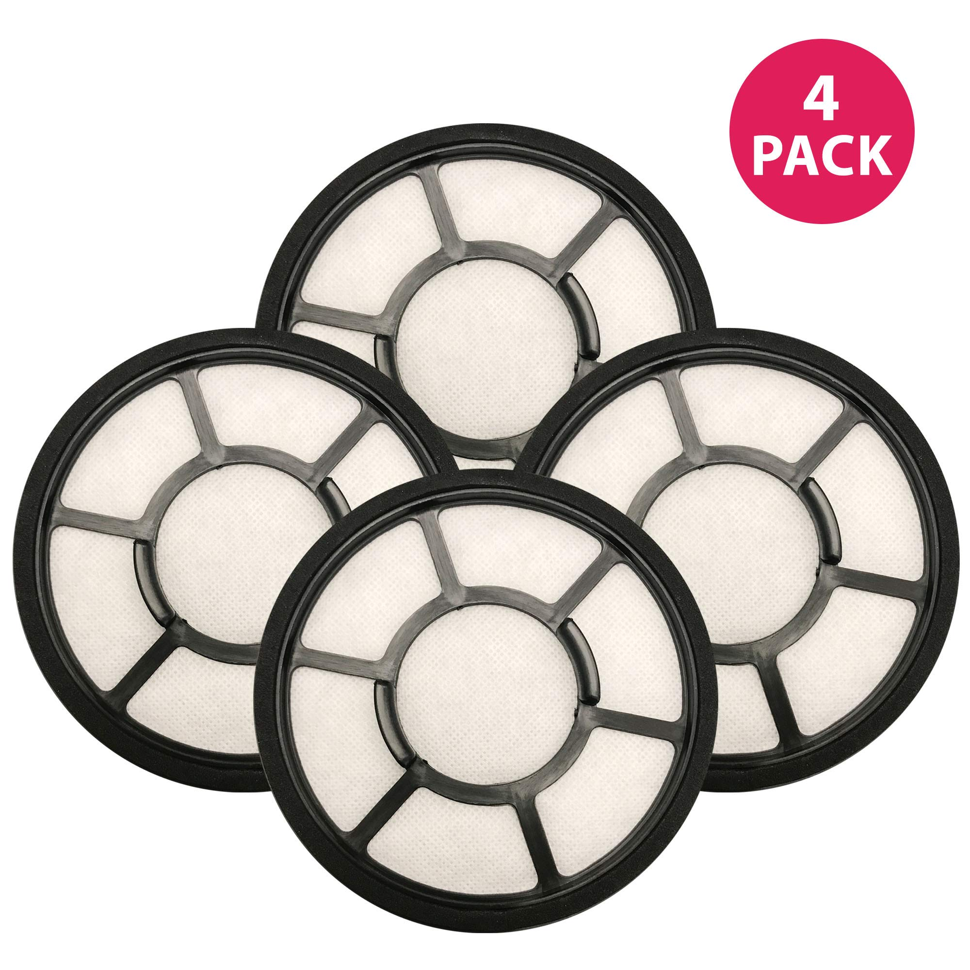 Think Crucial Replacement Air Filters Compatible With Black & Decker 5.5 x 5.5 x 1 Circular Pre Filter Part , Fits Vacuum Cleaner Model Parts BDASV102 Airswivel Vacuum Cleaners (4 Pack)