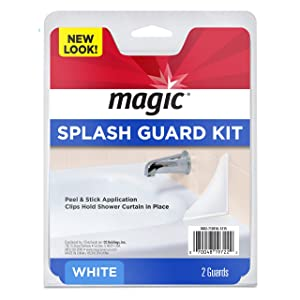 Magic Splash Guard Kit - Prevent Water from Splashing out of the Bath or Shower- White