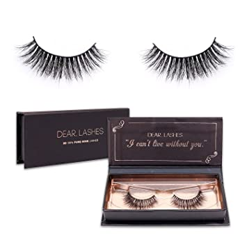 50507610c78 Lashes 3D 100% Pure Mink Eyelashes, Reusable Mink Lashes Handmade Mink False  Eyelashes (DEAR.DAISY) : Beauty