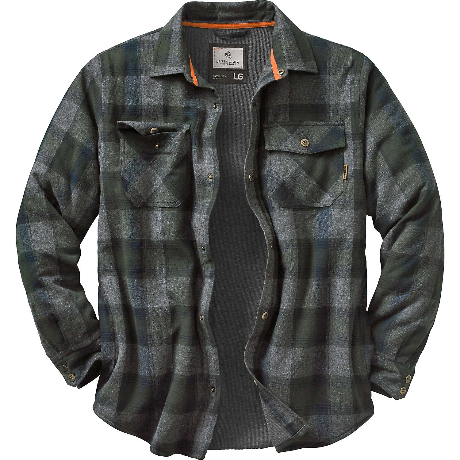 Legendary Whitetails Archer Shirt Jacket, Balsam Shadow Plaid, Large by Legendary Whitetails