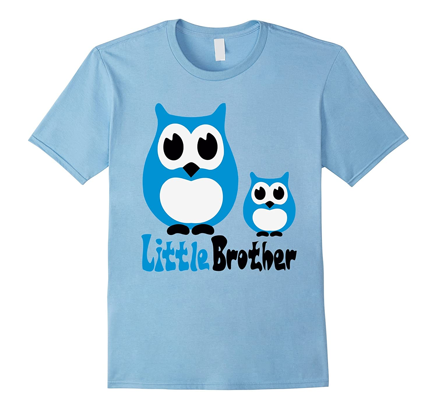 Funny Owl Little Brother T-Shirts For Mens Womens Kids-CL