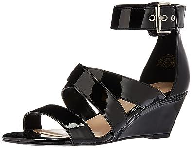 b88668b35d Amazon.com | Nine West Women's Piwow Patent Wedge Sandal | Platforms ...