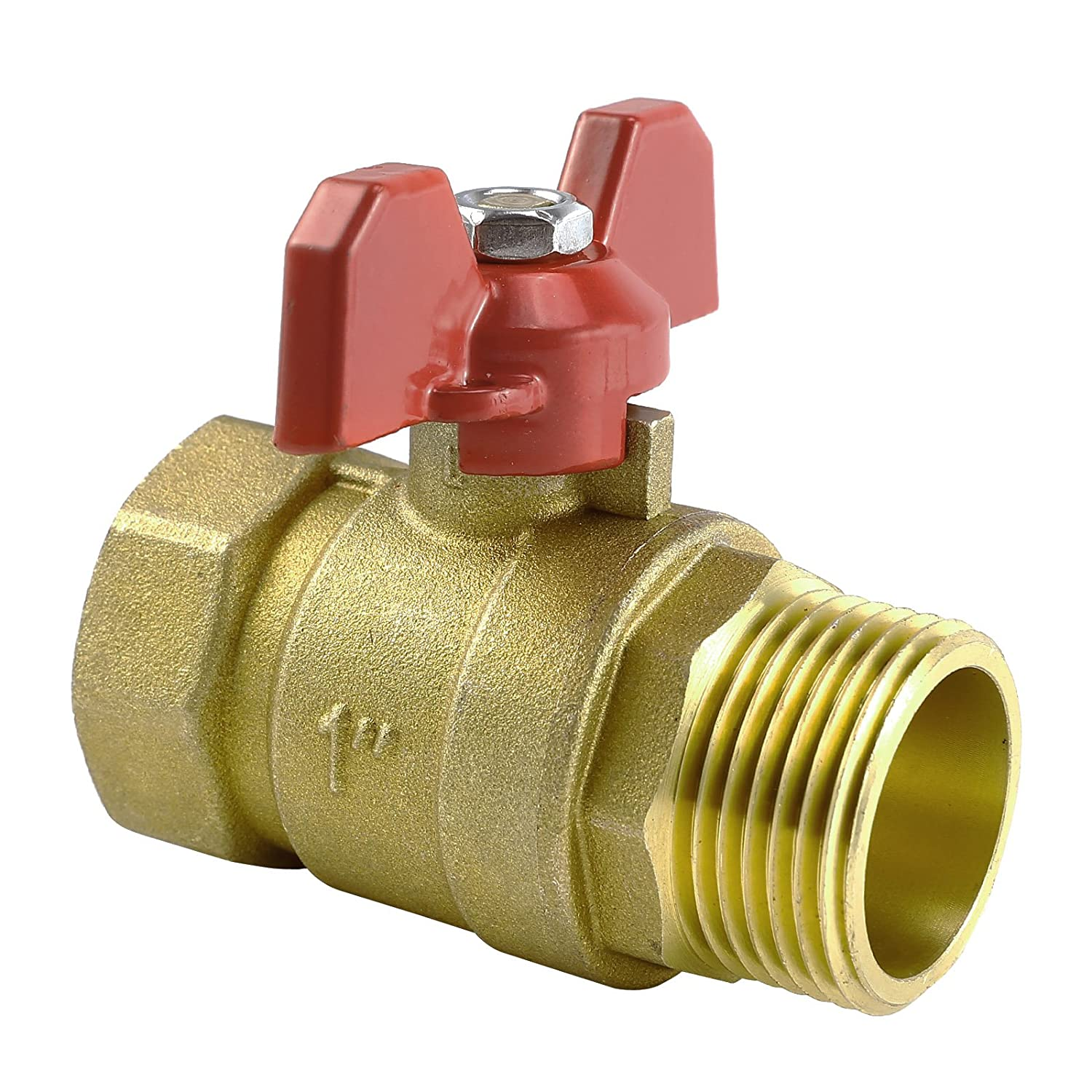 T Handle Ball Valves Red Handle BSP, T Lever Butterfly Ball Valves (1') T Lever Butterfly Ball Valves (1) Hamimelon
