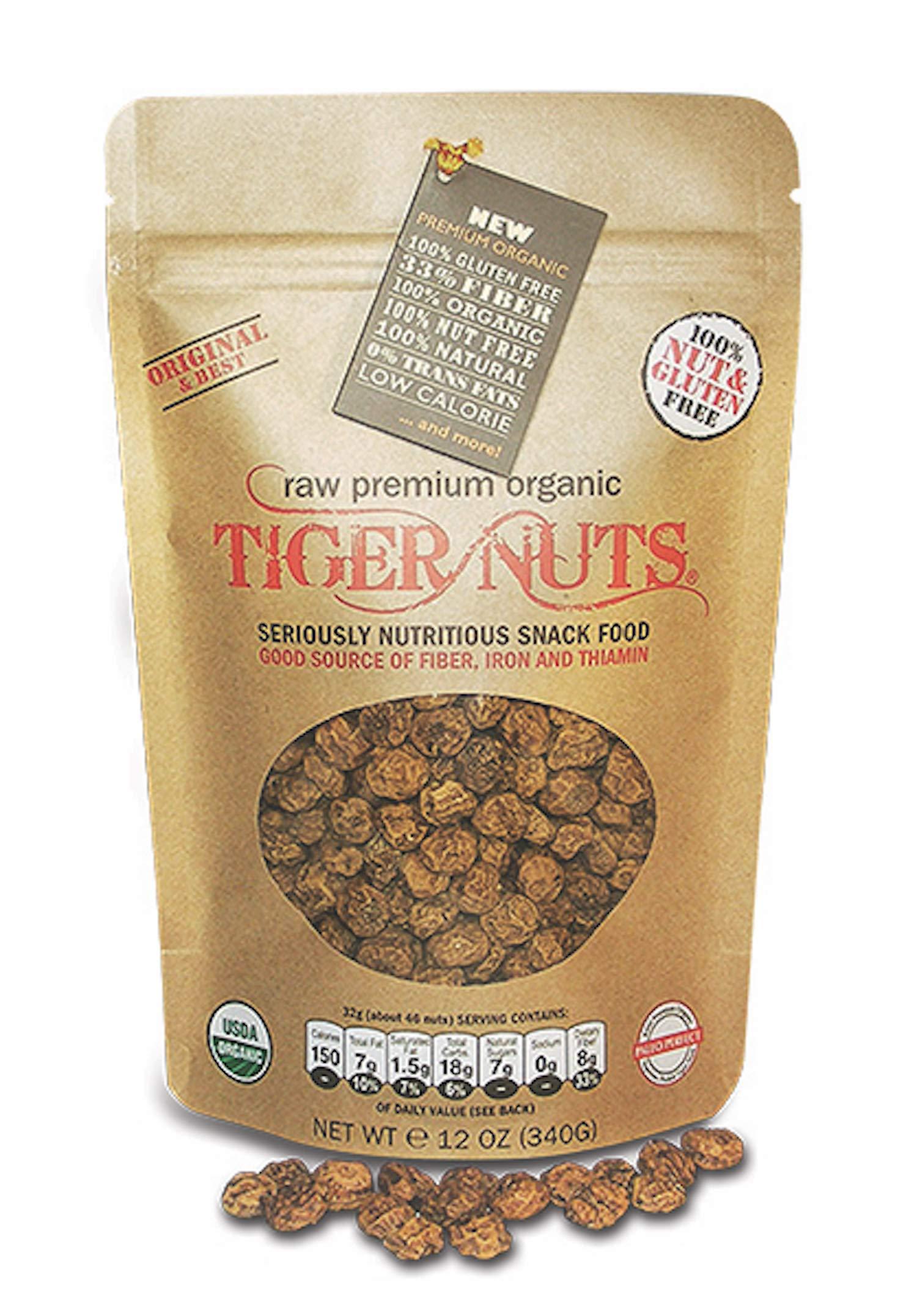 Premium Organic Tiger Nuts (12 oz)| High Fiber, Gluten Free, Non-GMO by Tiger Nuts
