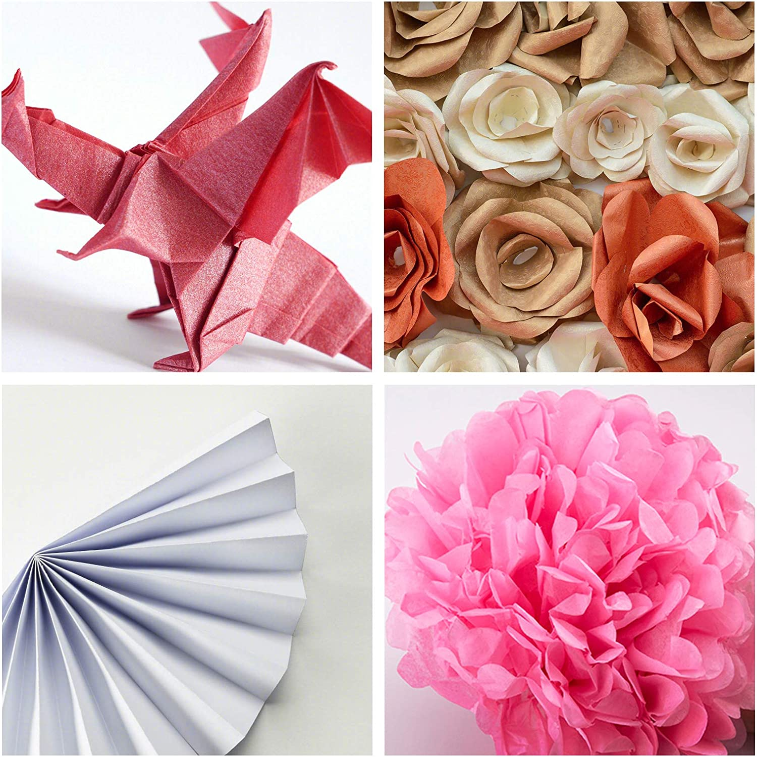 AIEX 50 Sheets Tissue Paper Mixed Colors Wrapping Paper Sheets for ...