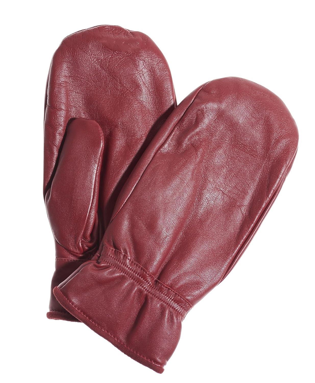 Pratt and Hart Womens Leather Mittens with Hi-Loft Sherpa Lining