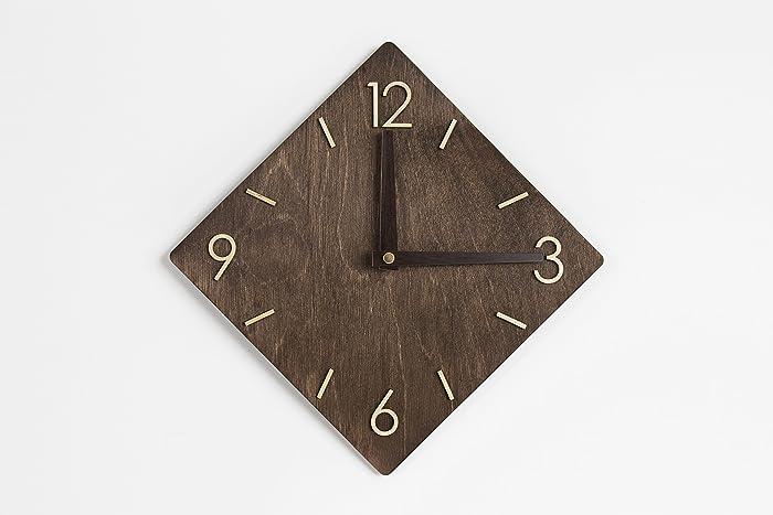 Rustic Wall Clock Wood Clock Wall Wall Clock Modern Clock Wood