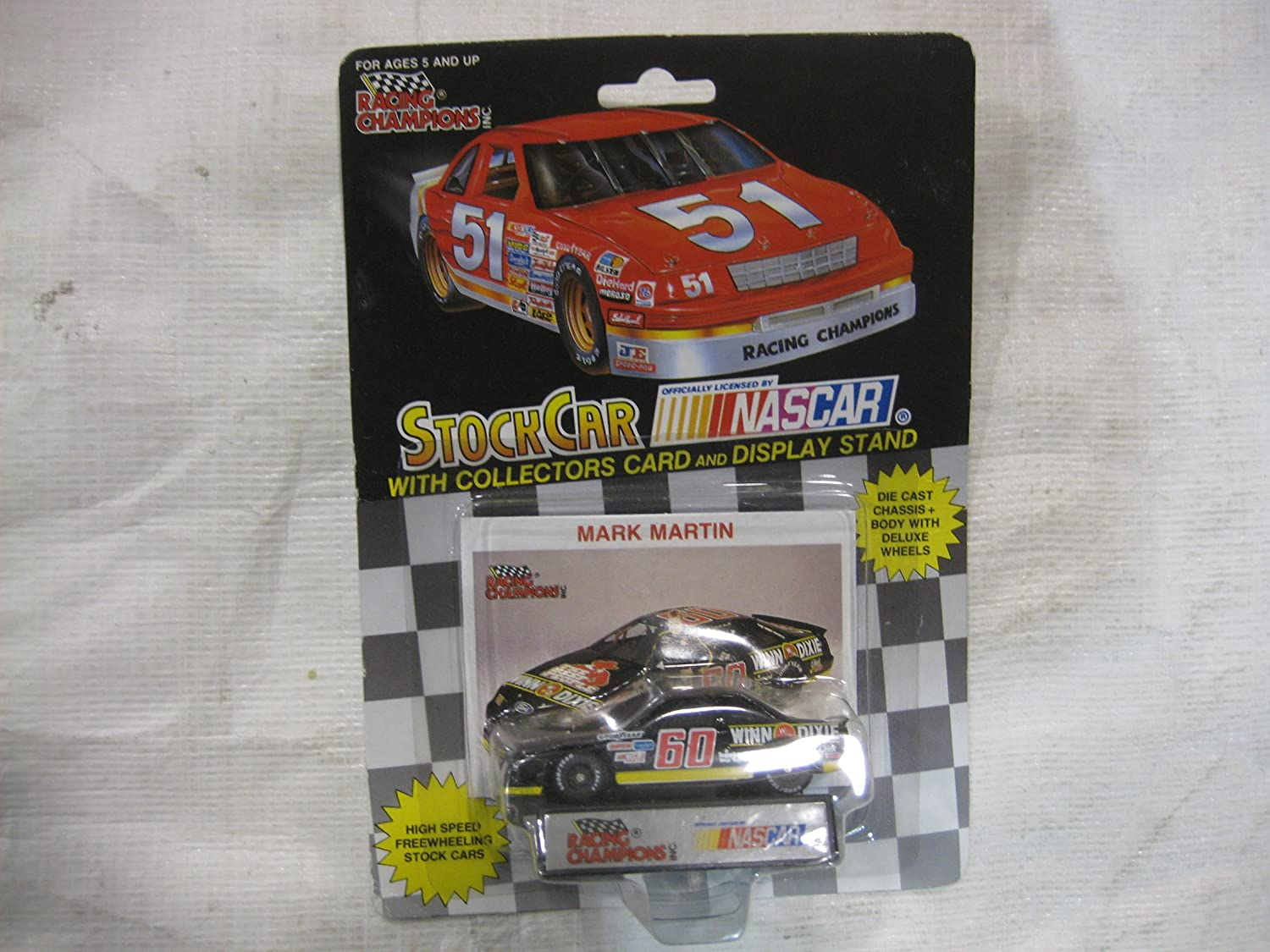 Review of winn dixie free appliances - Amazon Com Nascar 60 Mark Martin Winn Dixie Racing Team Stock Car With Driver S Collectors Card And Display Stand Racing Champions Black Background Red