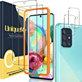 [2+2 Pack] UniqueMe Camera Lens Protector and Screen Protector for Samsung Galaxy A71 4G / 5G,Tempered Glass [Easy Installati