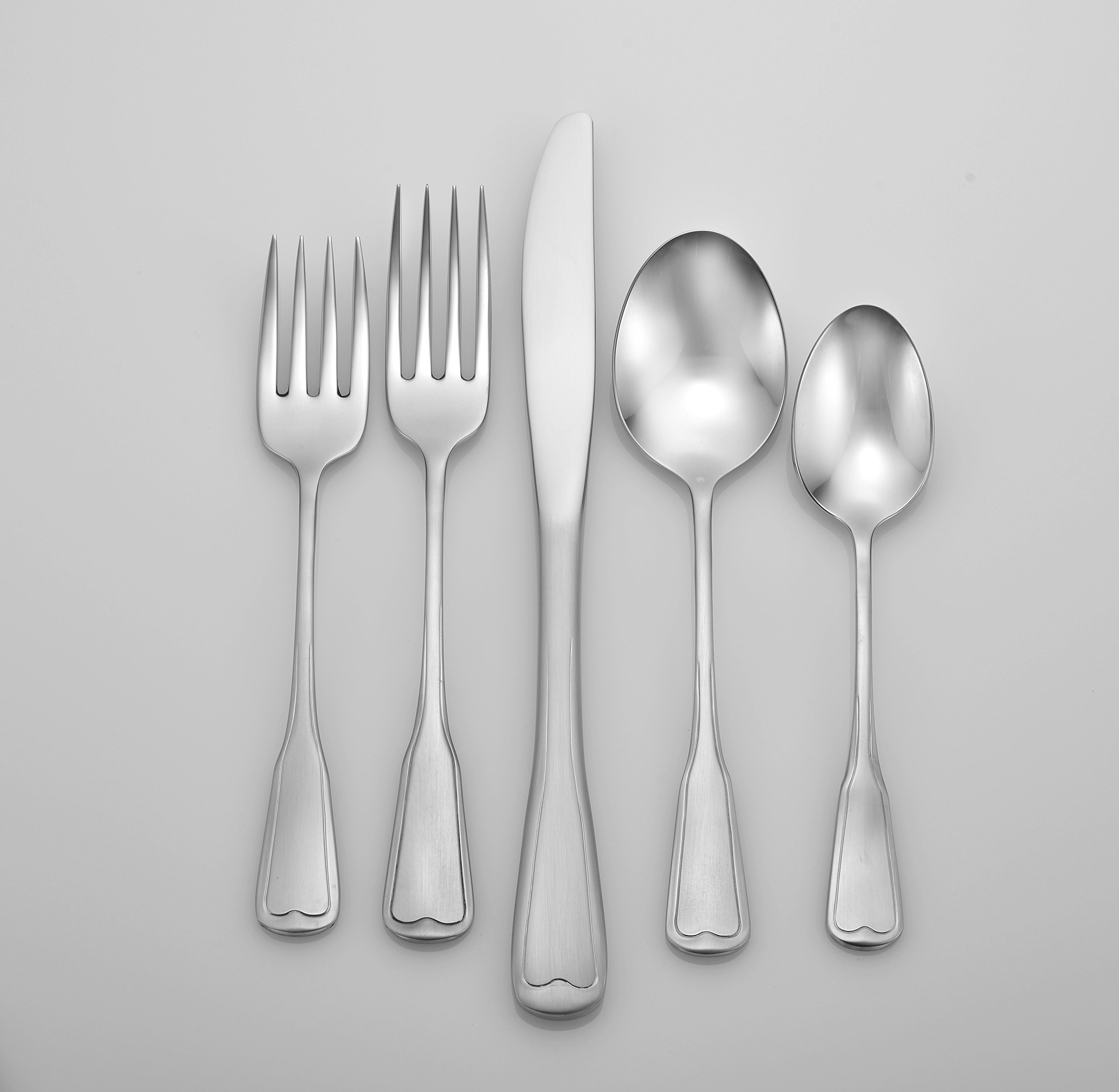 Liberty Tabletop Satin Richmond 20 Piece Flatware Set service for 4 stainless steel 18/10 Made in USA