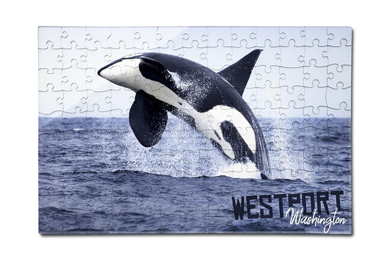 人気定番 Westport Jumping、ワシントン B079YPSN5T – 12 Orca Jumping ( 12 x 18プレミアムアクリルパズル、130ピース) B079YPSN5T, the Voice:9a16119c --- senas.4x4.lt