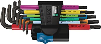 Stainless Wera 022688 T40 x 224mm Torx HF L-key Multicolor