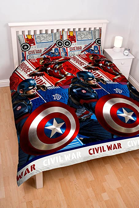 Copripiumino Capitan America.Character World Captain America Civilwar Double Duvet Set Amazon