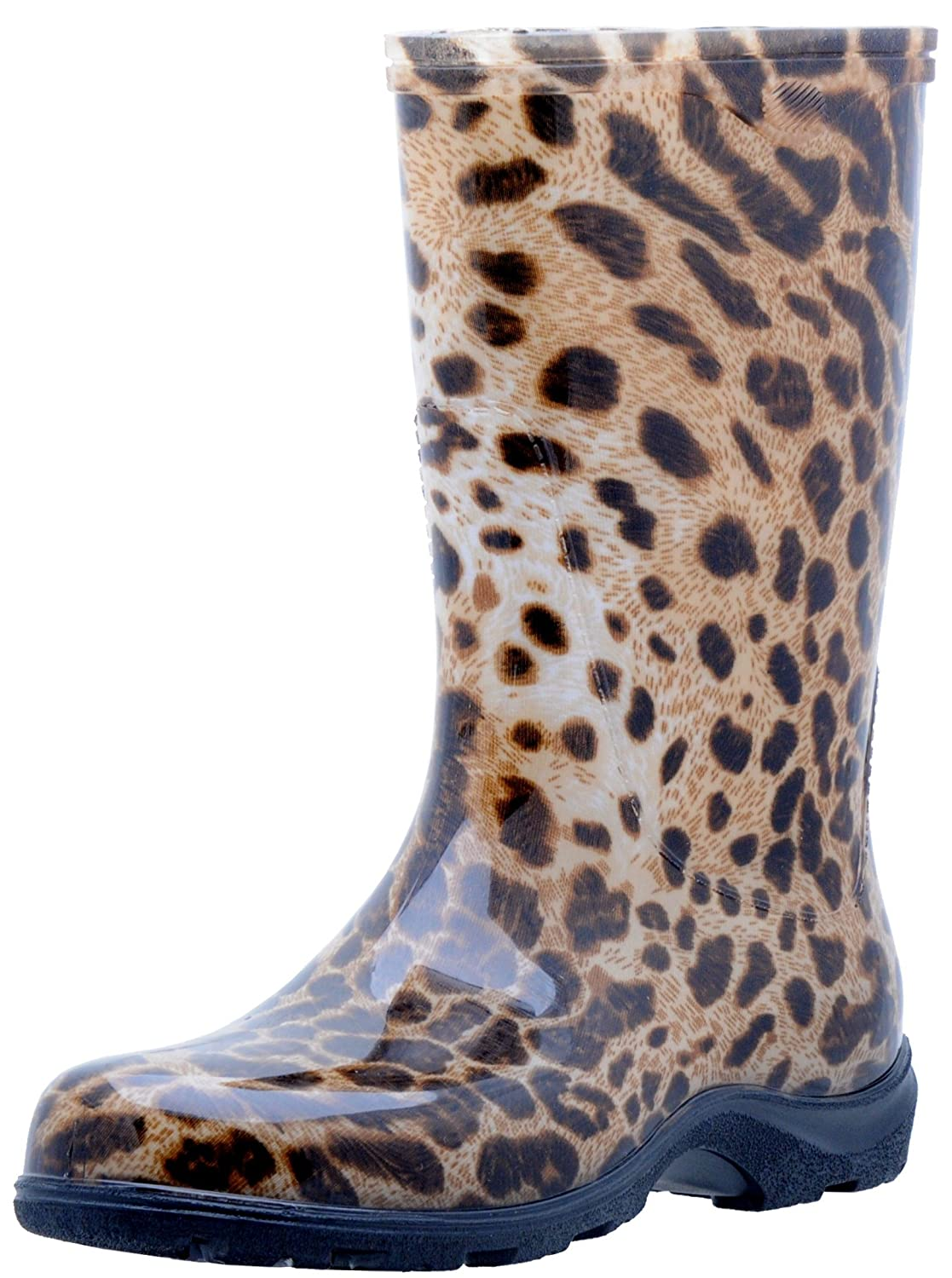 Leopard Print Sloggers 5018SSBL08 Spring Surprise Waterproof Boot, 8, bluee