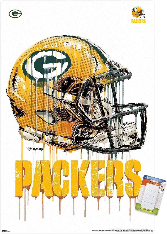 Trends International NFL Green Bay Packers - Drip Helmet 20 Wall Poster, 22.375