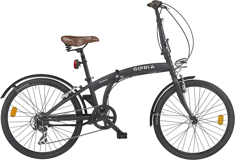 CICLI CLORIA Milano Bicicleta Plegable Forlanini Negro: Amazon.es ...