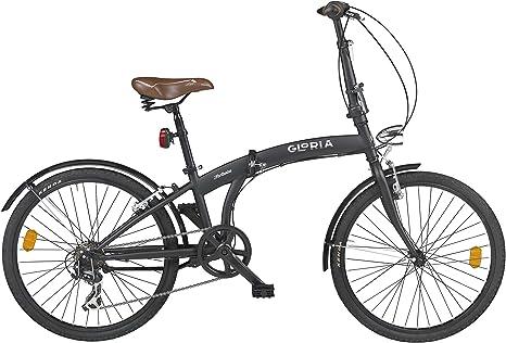 CICLI CLORIA Milano Bicicleta Plegable Forlanini Negro: Amazon ...