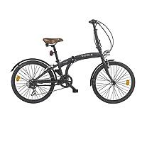 CICLI CLORIA Milano Bicicleta Plegable Forlanini Negro