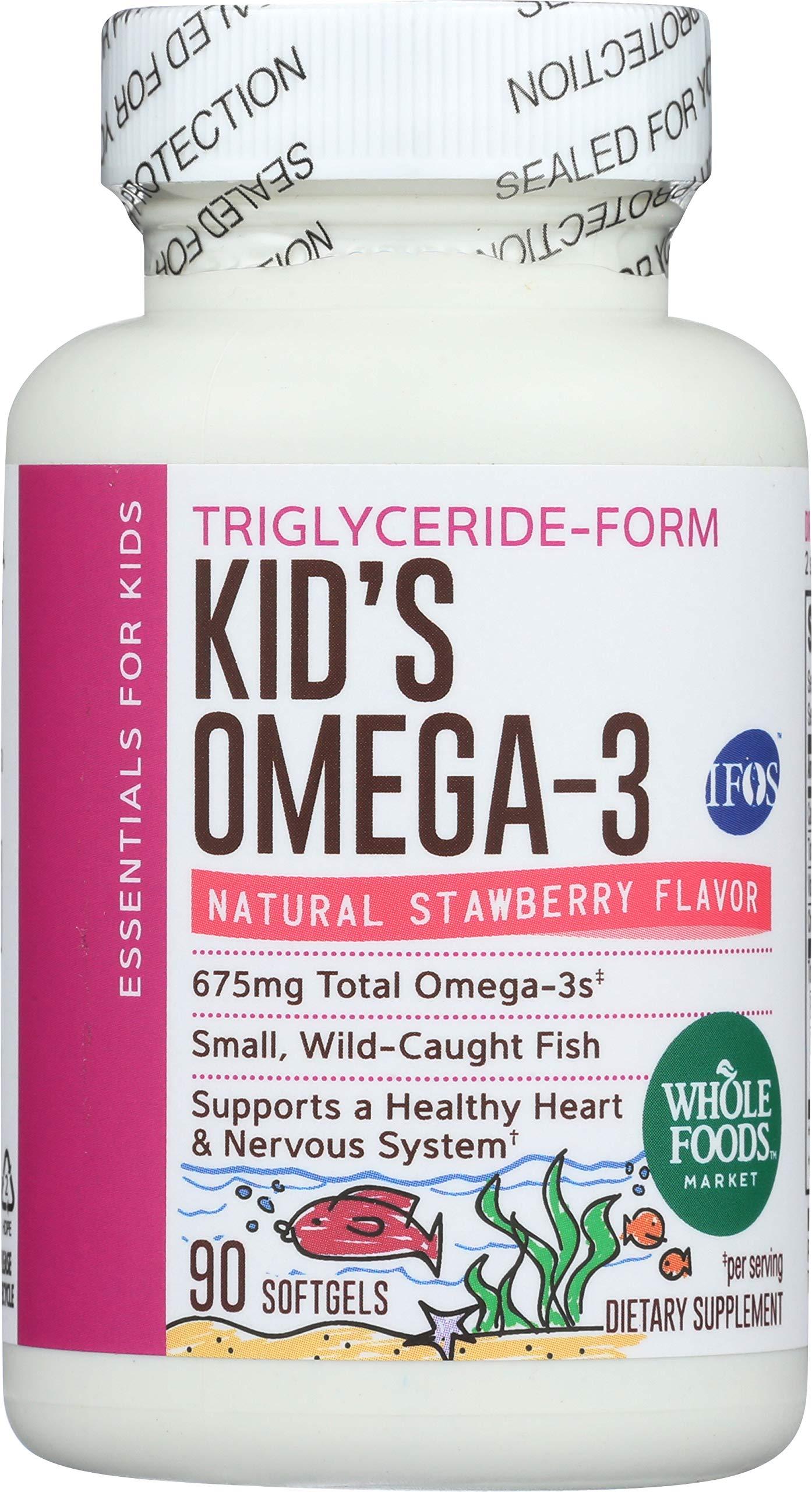 Whole Foods Market, Kids Omega 3 675 Mg, 90 Softgels by Whole Foods Market