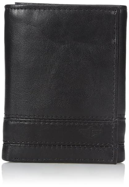 Dockers - Cartera triple para hombre con detalles de punto - negro - talla única: Amazon.es: Ropa y accesorios