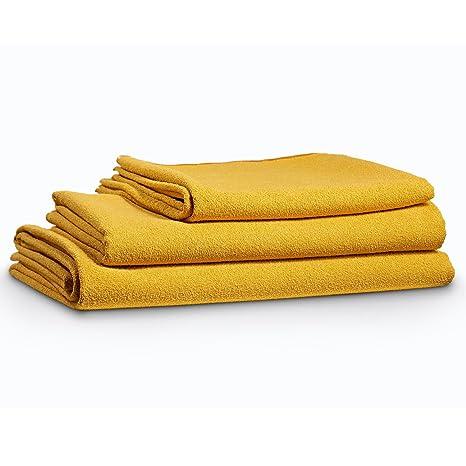 BodyRag Toalla de microfibra de lujo: para el hogar, viajes, deportes, Mustard