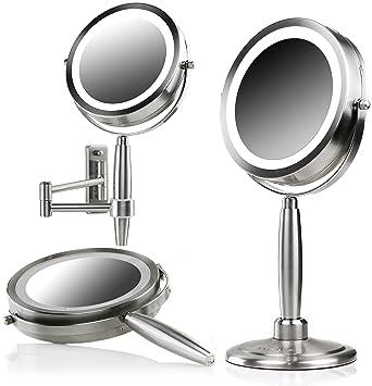 3in1 LED Light Makeup Mirror Beauty Pocket Fan USB Portable Handheld Gift