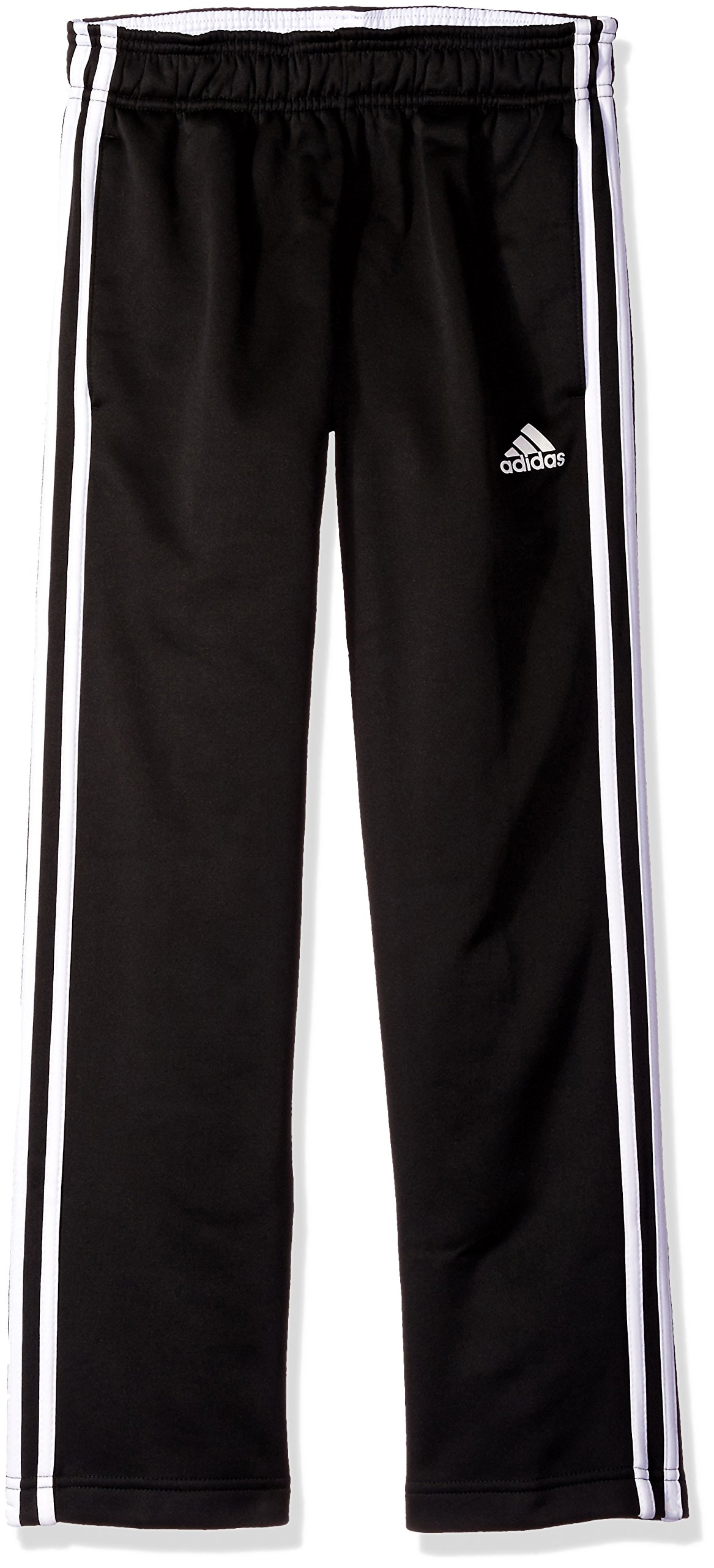 adidas Big Boys' Tech Fleece Pant, Black/White, Medium/10-12