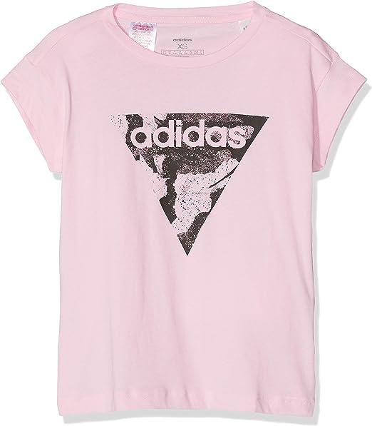 adidas Girls Tshirt Young Style Fashion Training Essentials Loose Tee