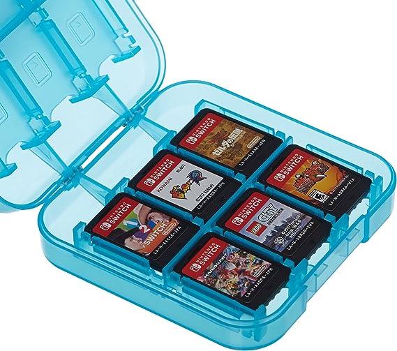 AmazonBasics - Funda para almacenamiento de juegos, para Nintendo Switch - Azul: Amazon.es: Videojuegos