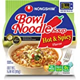 NongShim Bowl Noodle Soup, Hot and Spicy, 3.03 Ounce (Pack of 12)