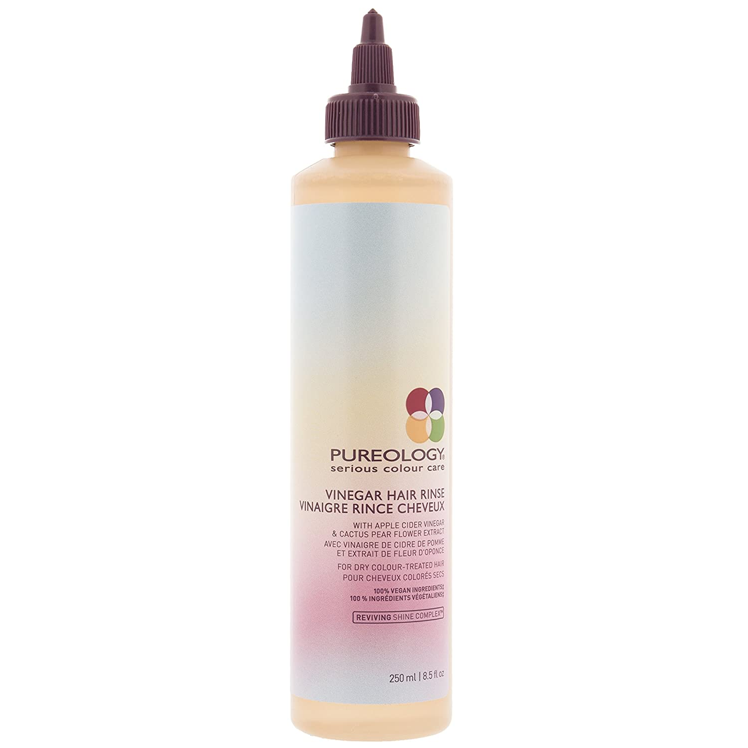 Pureology Vinegar Hair Rinse | Cleanses, Softens & Adds Shine | For Dry, Color Treated Hair | Vegan | 8.5 oz.