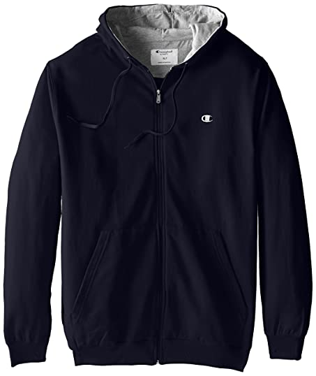 Champion Men's Big & Tall Full-Zip Fleece Hooded Jacket at Amazon ...