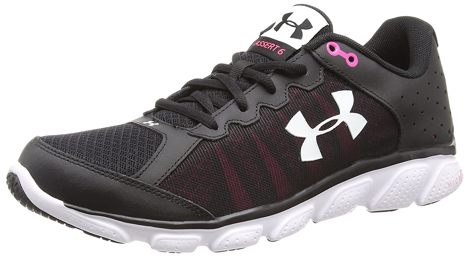 Under Armour Women's Micro Shoe G Assert 6 Running Shoe Micro B00ZVOQ5NG 8 M US|Black (001)/Harmony Red 558f75