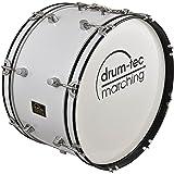 "Marching Bass Drum / Fan-Trommel / große Trommel / Pauke Größe 22"" x 10"" (55cm x 25cm) Nur 5,5 KG (Modell: MBC-22B) drum-tec Marching - Classic Line"