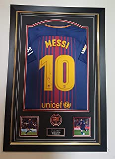 www.signedmemorabiliashop.co.uk Camisa de Lionel Messi de ...