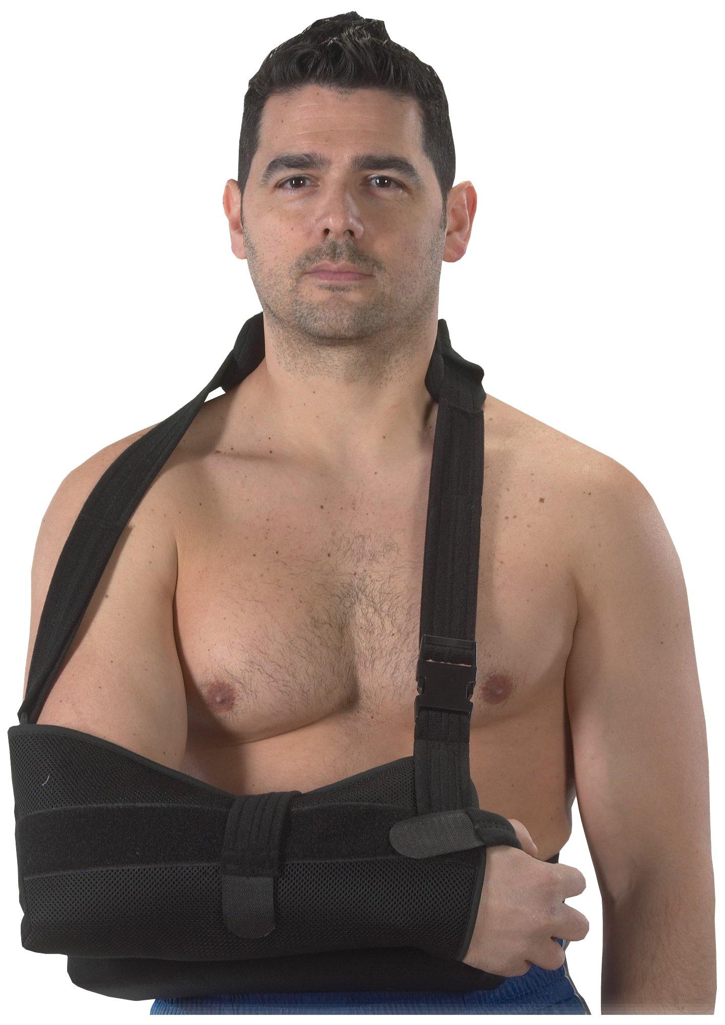 Bilt-Rite Mastex Health Shoulder Immobilizer, Black