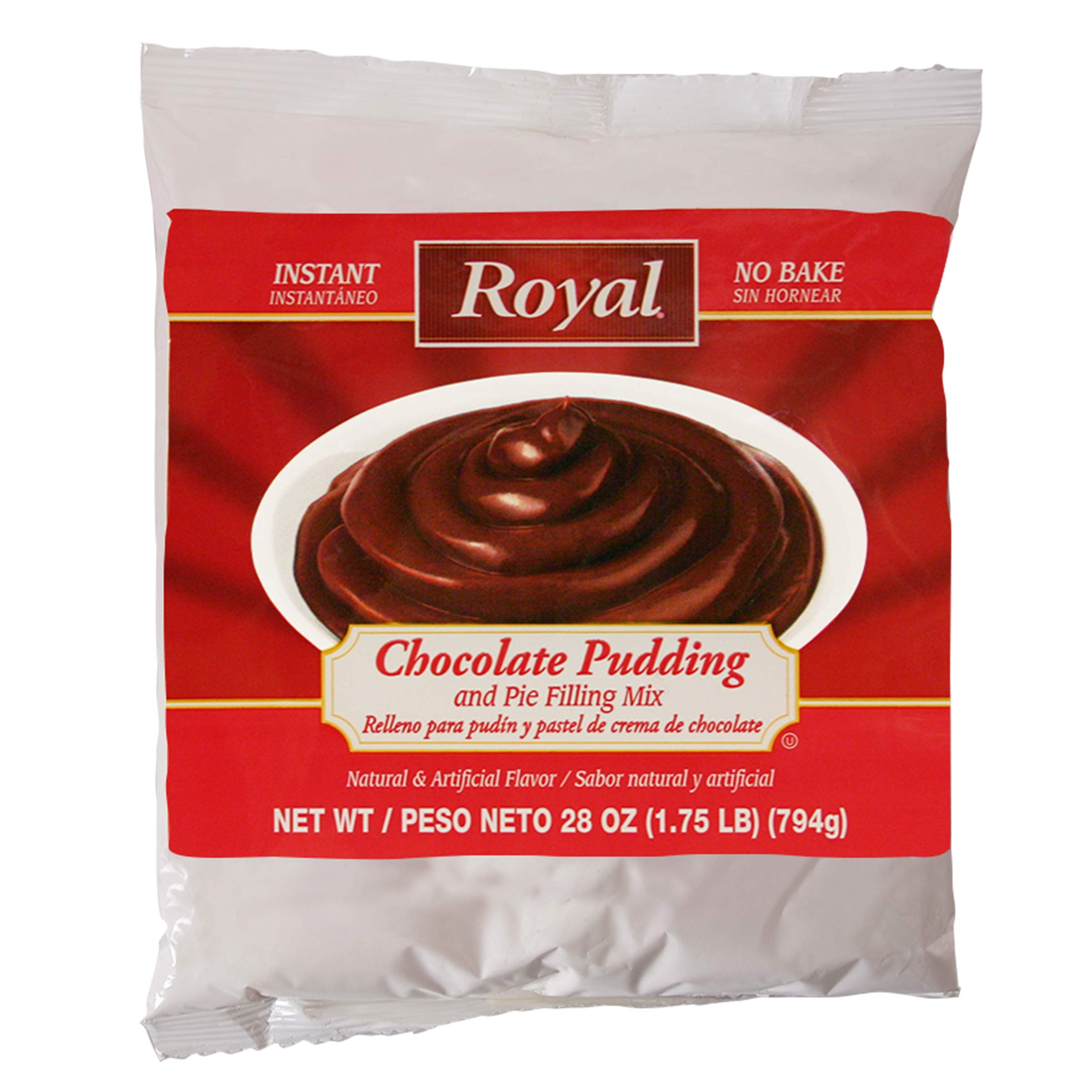Royal Instant No Bake Chocolate Pudding and Pie Filling 28 ounce bag (6 pack case)