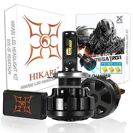 Hikari LED bombillas para faros delanteros Kit de conversión – Philips Lumileds 12000LM 6 K Blanco